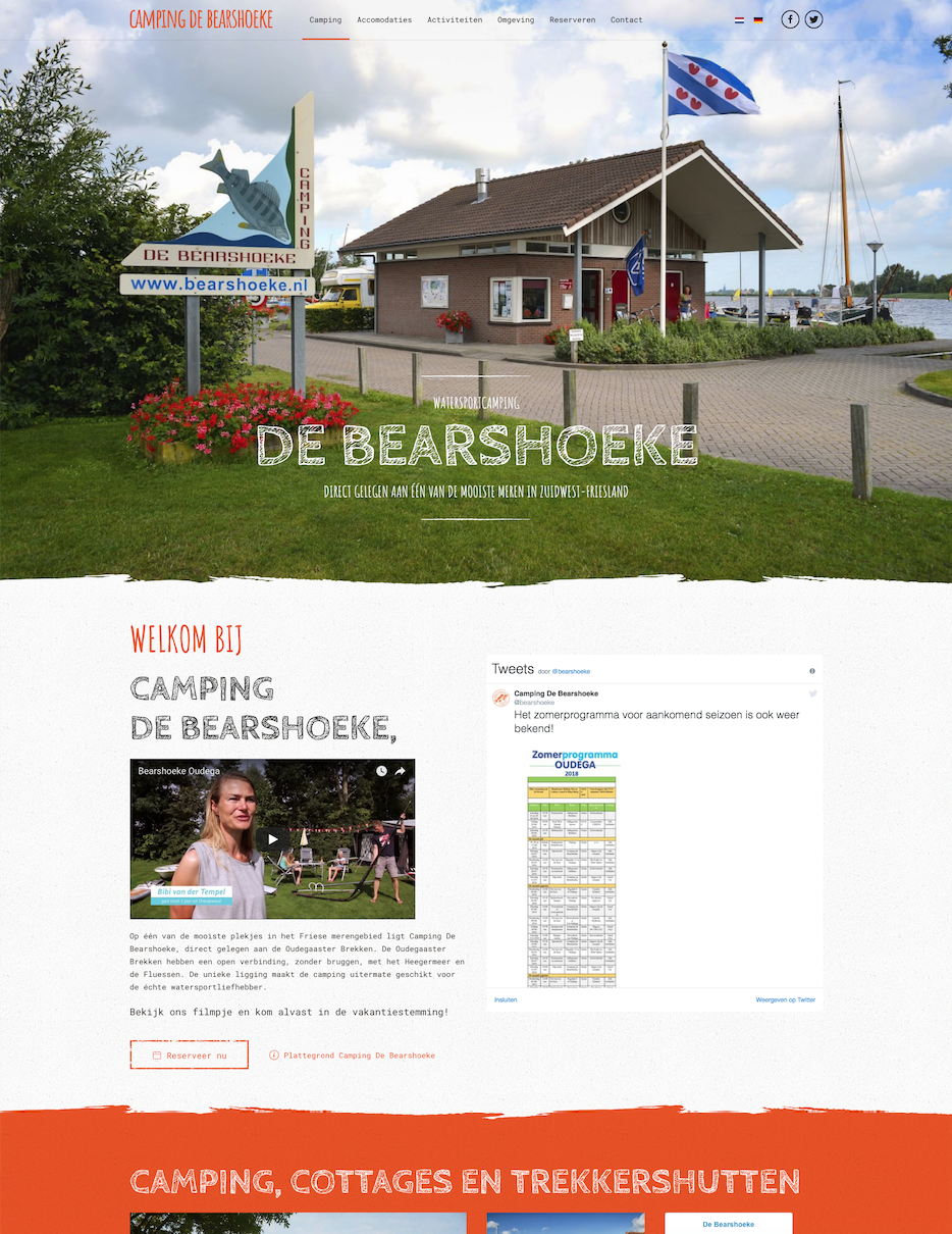 Website De bearshoeke